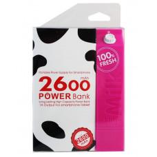 Портативное зарядное устройство Milk Power Bank A5, 2600 mAh